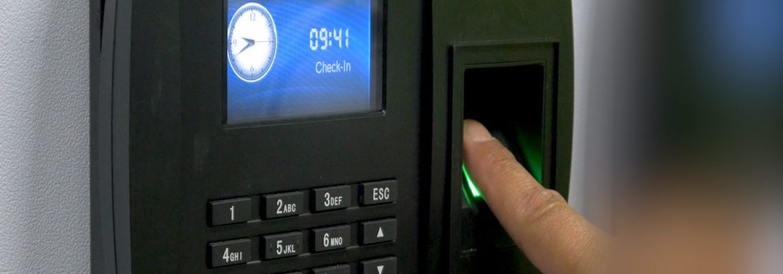 How does a fingerprint clocking in machine work?